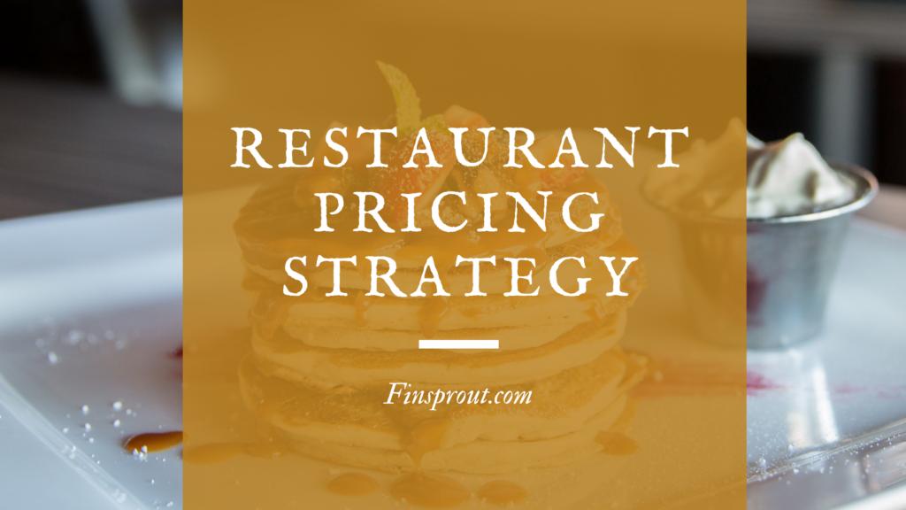 restaurant pricing strategy menu pricing